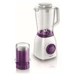 Blender PHILIPS Viva Collection HR2163/00, Variospeed, 600W, 1.5l, alb-violet