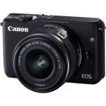 Camera foto mirrorless CANON EOSM10, 18Mp, 3 inch, obiectiv 15-45 mm,  f/3.5-6.3 IS STM, negru