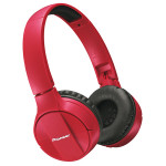 Casti on-ear cu microfon Bluetooth PIONEER SE-MJ553BT-R, rosu