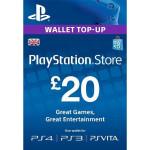 PlayStation Network Card UK 20 lire PS3 / PS4 / PS VITA