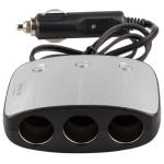 Adaptor priza auto cu 3 iesiri, 2 x USB, AVLINK