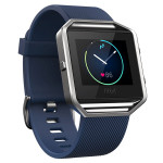 Smartwatch FITBIT Blaze Silver, bratara Large, Blue