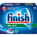 Tablete FINISH All in One, 14 bucati