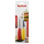 Set de 2 cutite pentru legume si fructe TEFAL Fresh Kitchen K0612314, galben-rosu
