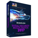 Antivirus BITDEFENDER Total Security Multi-Device 2017, 1 an, 3 dispozitive, Retail